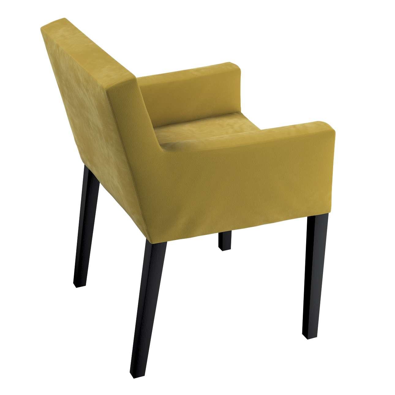Návlek na stoličku s opierkami Nils V kolekcii Velvet, tkanina: 704-27