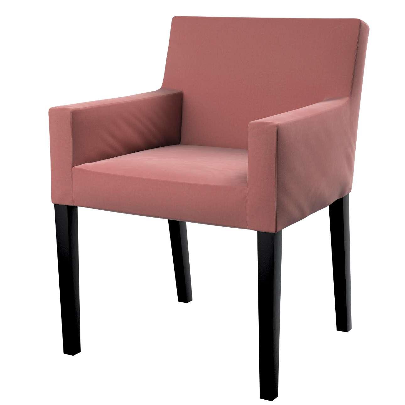 Návlek na stoličku s opierkami Nils V kolekcii Velvet, tkanina: 704-30