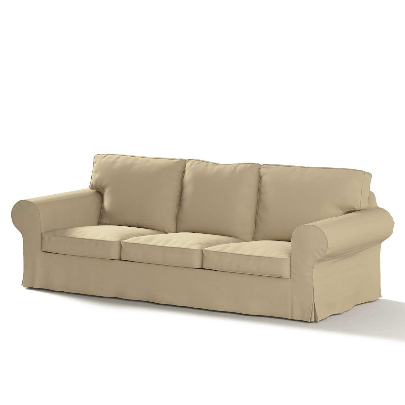 Pokrowiec na sofę Ektorp 3-osobową, rozkładaną w kolekcji Cotton Panama, tkanina: 702-01