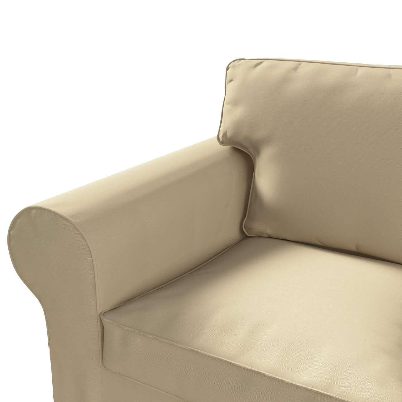 Pokrowiec na sofę Ektorp 3-osobową, rozkładaną NOWY MODEL 2013 w kolekcji Cotton Panama, tkanina: 702-01