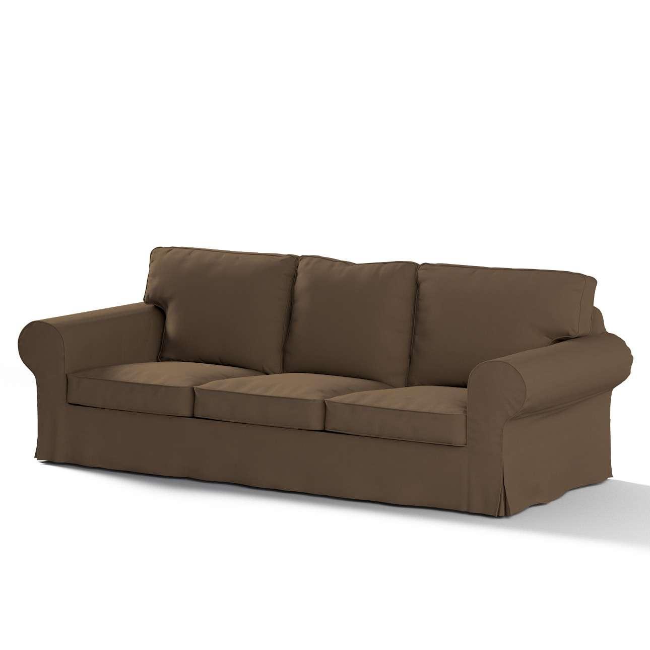 Pokrowiec na sofę Ektorp 3-osobową, rozkładaną w kolekcji Cotton Panama, tkanina: 702-02