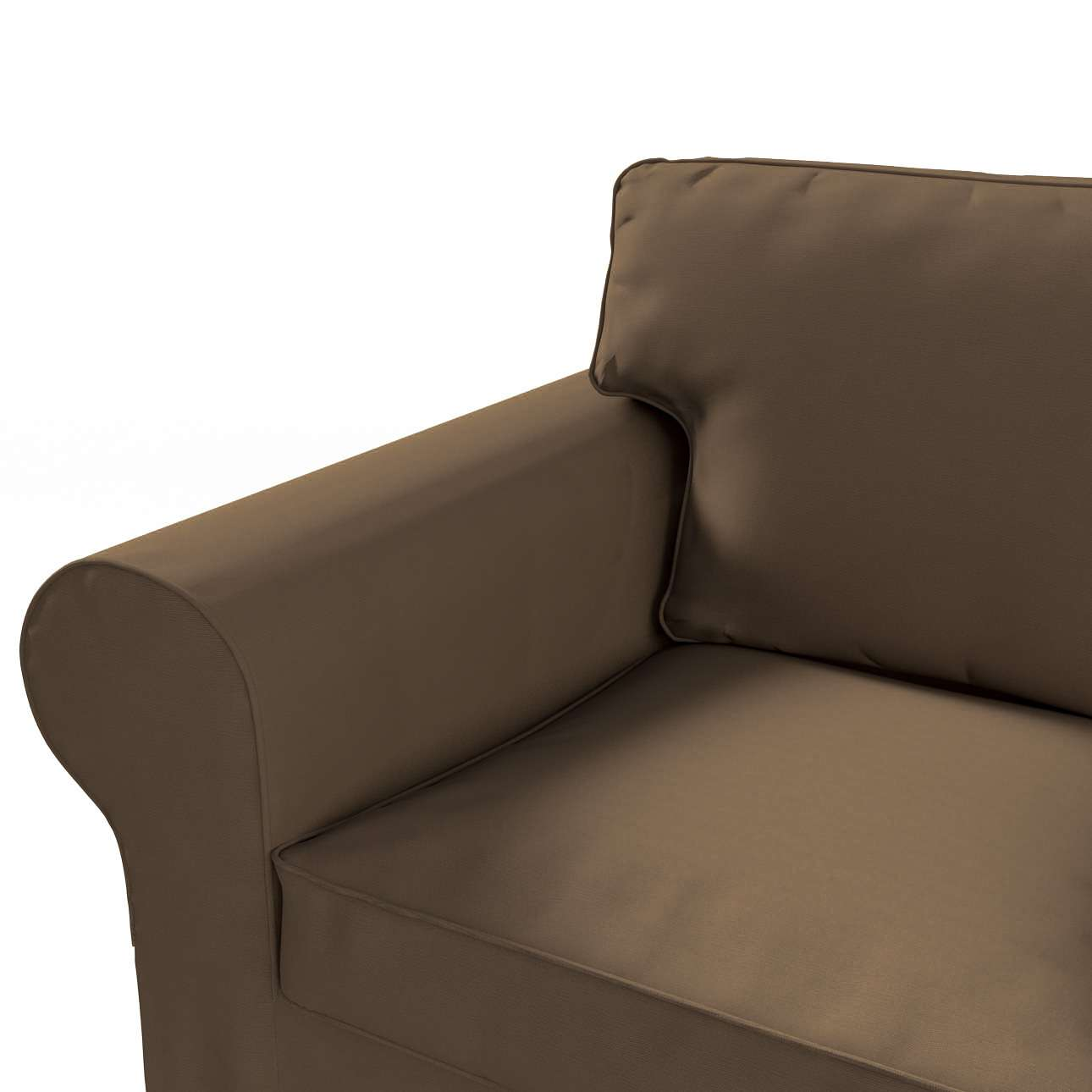 Pokrowiec na sofę Ektorp 3-osobową, rozkładaną NOWY MODEL 2013 w kolekcji Cotton Panama, tkanina: 702-02