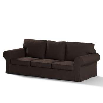 Pokrowiec na sofę Ektorp 3-osobową, rozkładaną NOWY MODEL 2013 w kolekcji Cotton Panama, tkanina: 702-03