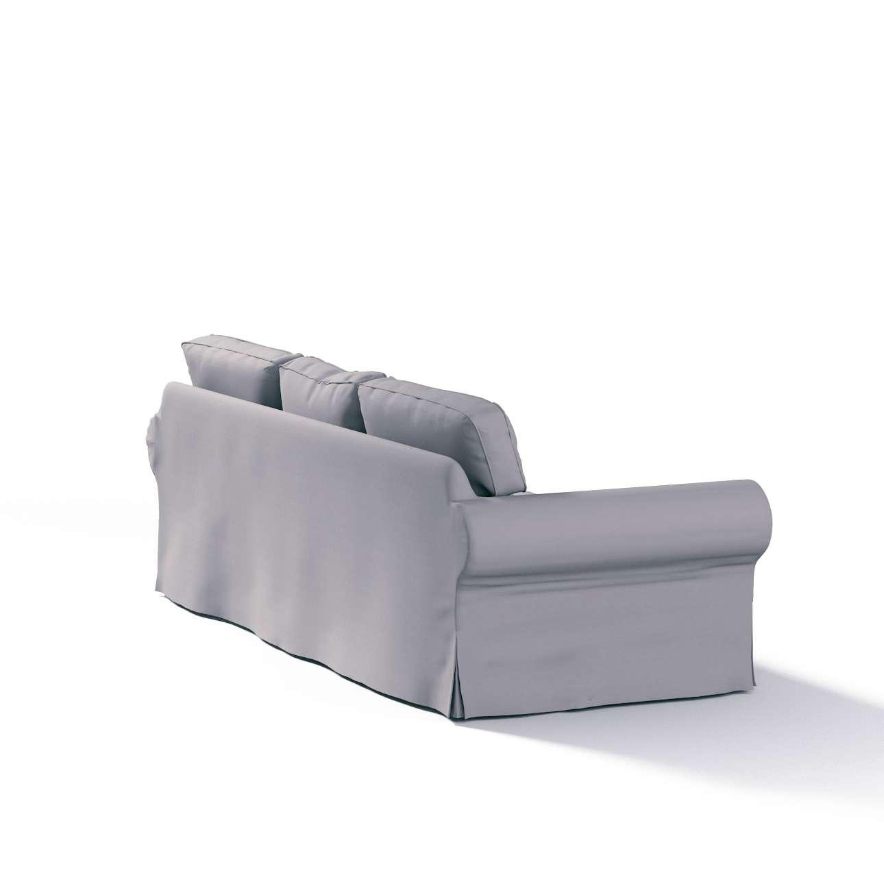 Pokrowiec na sofę Ektorp 3-osobową, rozkładaną w kolekcji Cotton Panama, tkanina: 702-07
