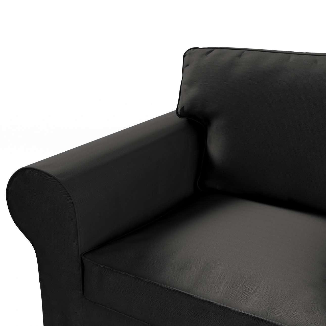 Pokrowiec na sofę Ektorp 3-osobową, rozkładaną w kolekcji Cotton Panama, tkanina: 702-08