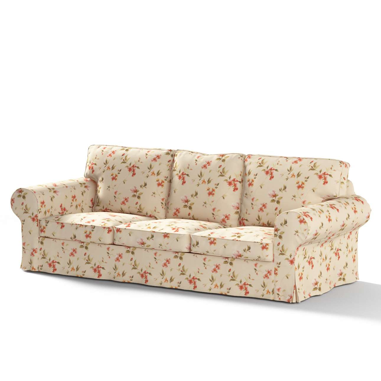 Ektorp trekk 3 seter sovesofa uten boks fra kolleksjonen Londres , Stoffets bredde: 124-05