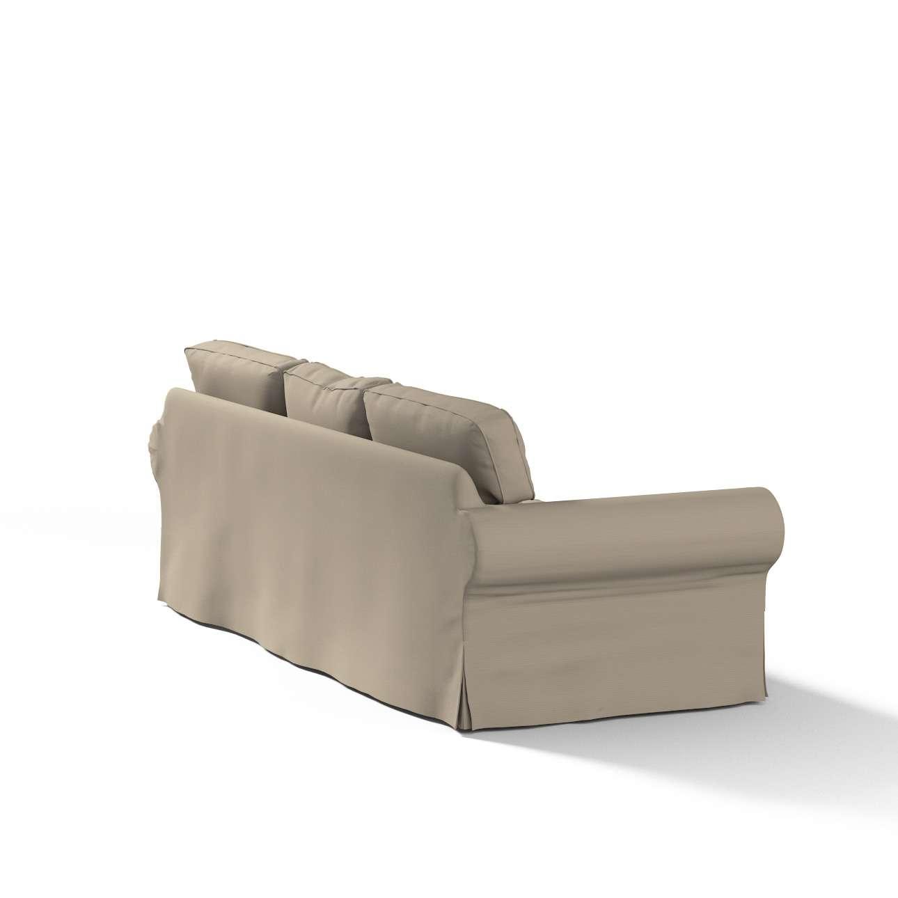 Pokrowiec na sofę Ektorp 3-osobową, rozkładaną w kolekcji Cotton Panama, tkanina: 702-28