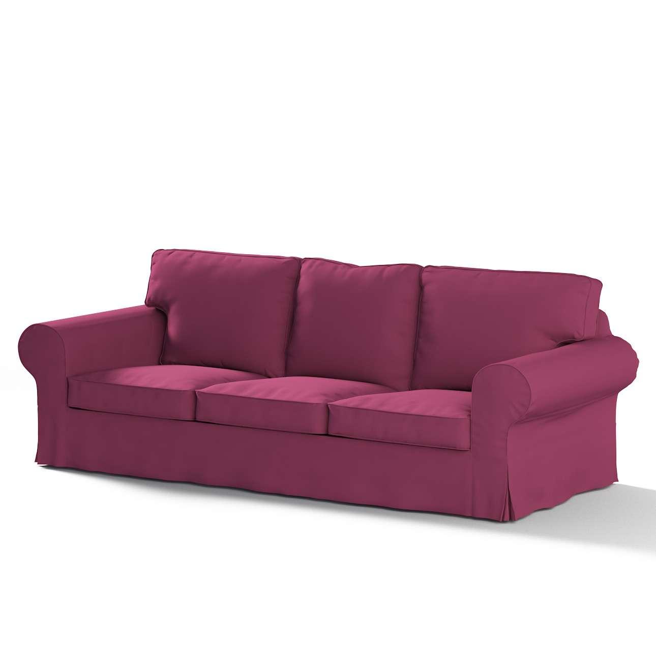 Pokrowiec na sofę Ektorp 3-osobową, rozkładaną w kolekcji Cotton Panama, tkanina: 702-32