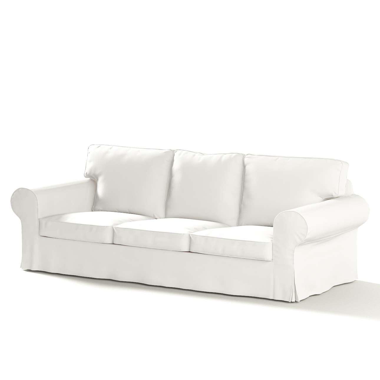 Pokrowiec na sofę Ektorp 3-osobową, rozkładaną w kolekcji Cotton Panama, tkanina: 702-34