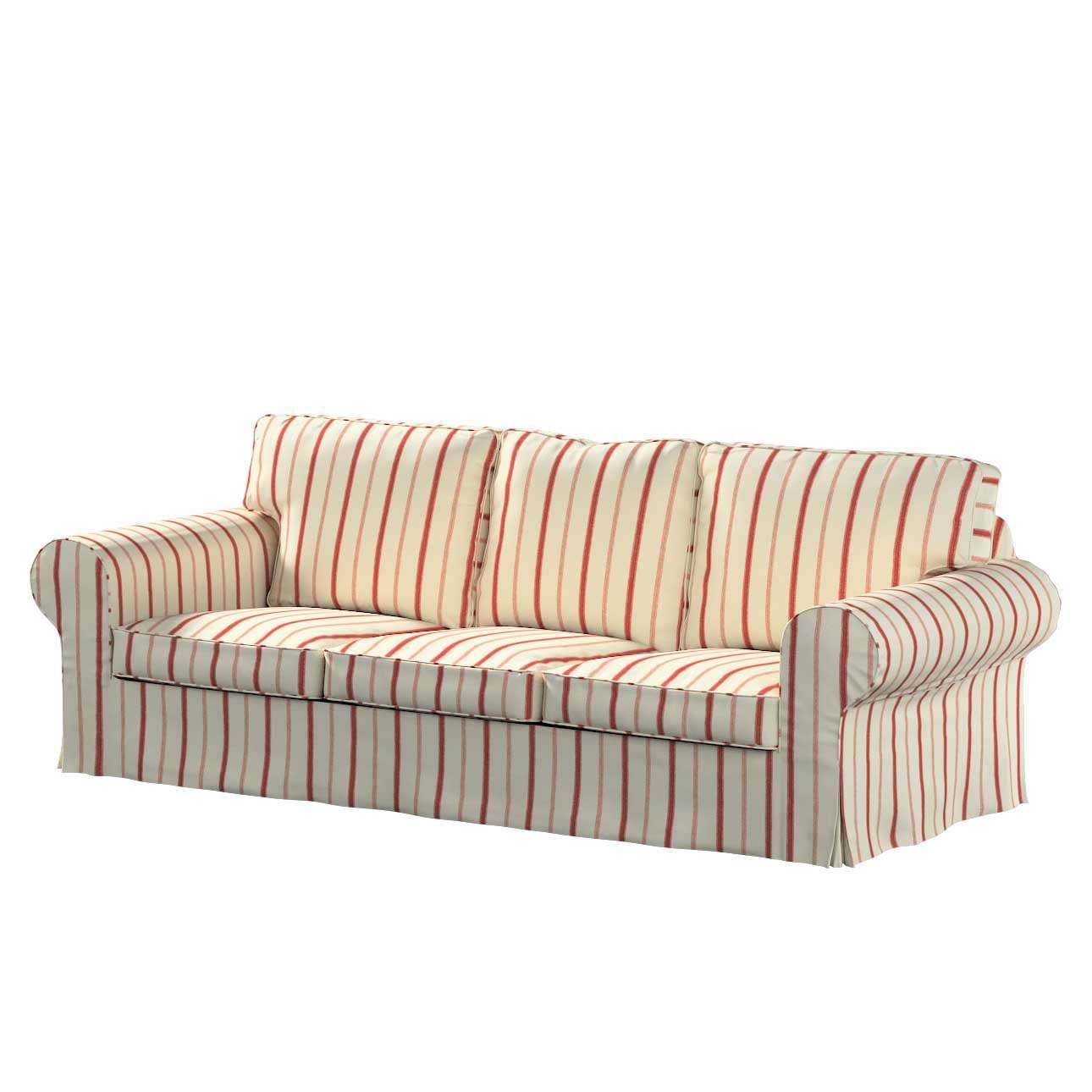 Pokrowiec na sofę Ektorp 3-osobową, rozkładaną w kolekcji Avinon, tkanina: 129-15