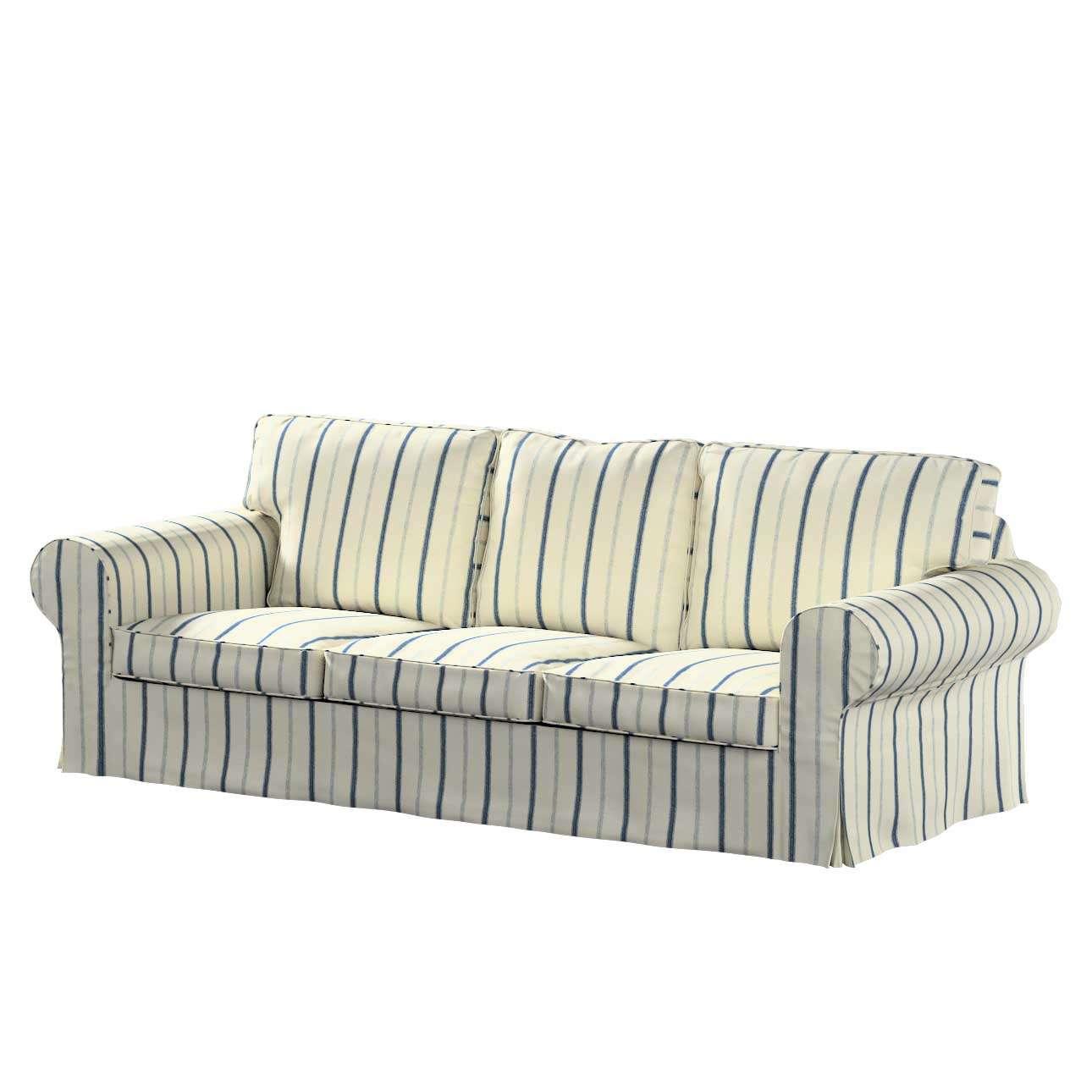Pokrowiec na sofę Ektorp 3-osobową, rozkładaną w kolekcji Avinon, tkanina: 129-66