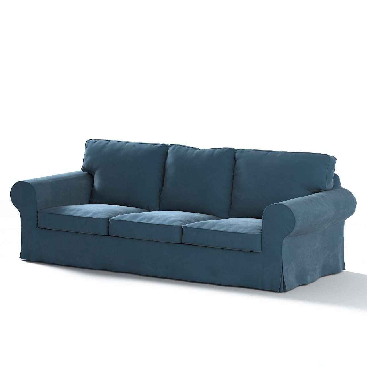 Pokrowiec na sofę Ektorp 3-osobową, rozkładaną w kolekcji Velvet, tkanina: 704-16