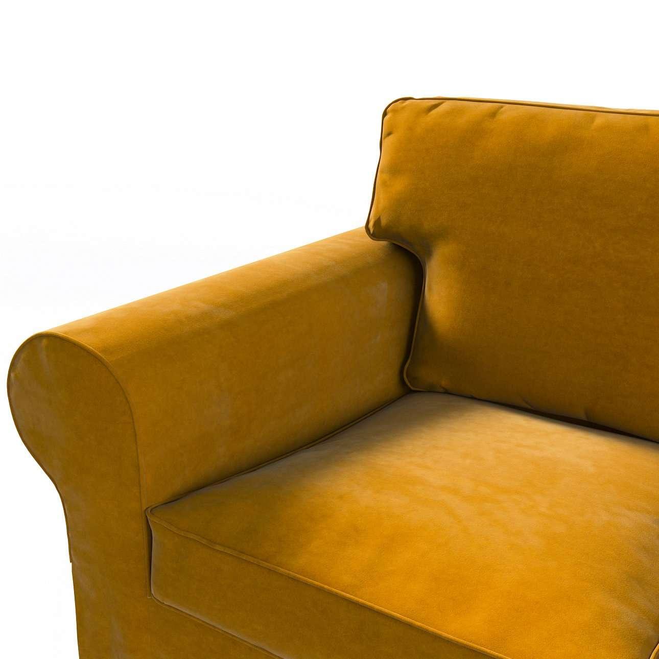 Pokrowiec na sofę Ektorp 3-osobową, rozkładaną w kolekcji Velvet, tkanina: 704-23