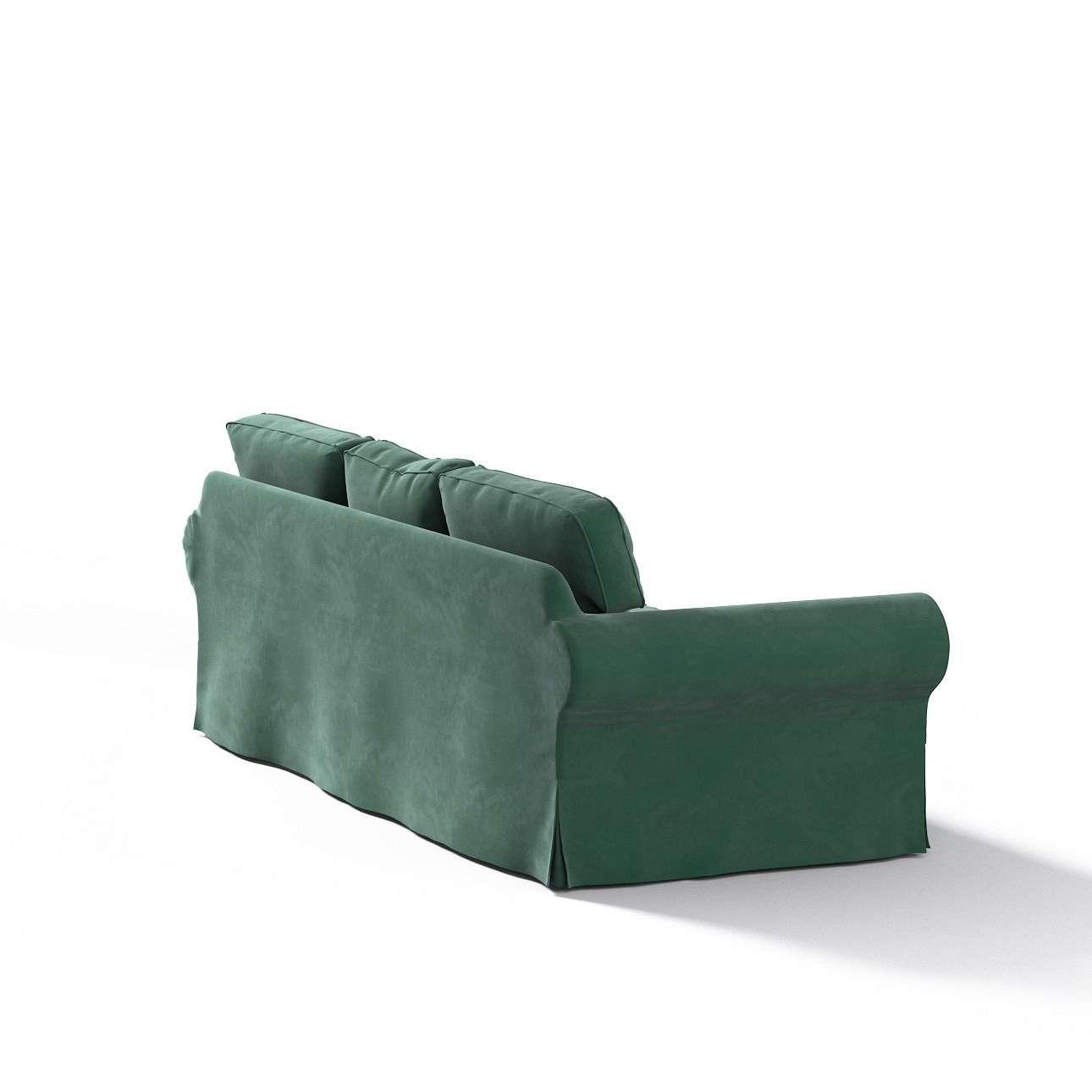Pokrowiec na sofę Ektorp 3-osobową, rozkładaną w kolekcji Velvet, tkanina: 704-25