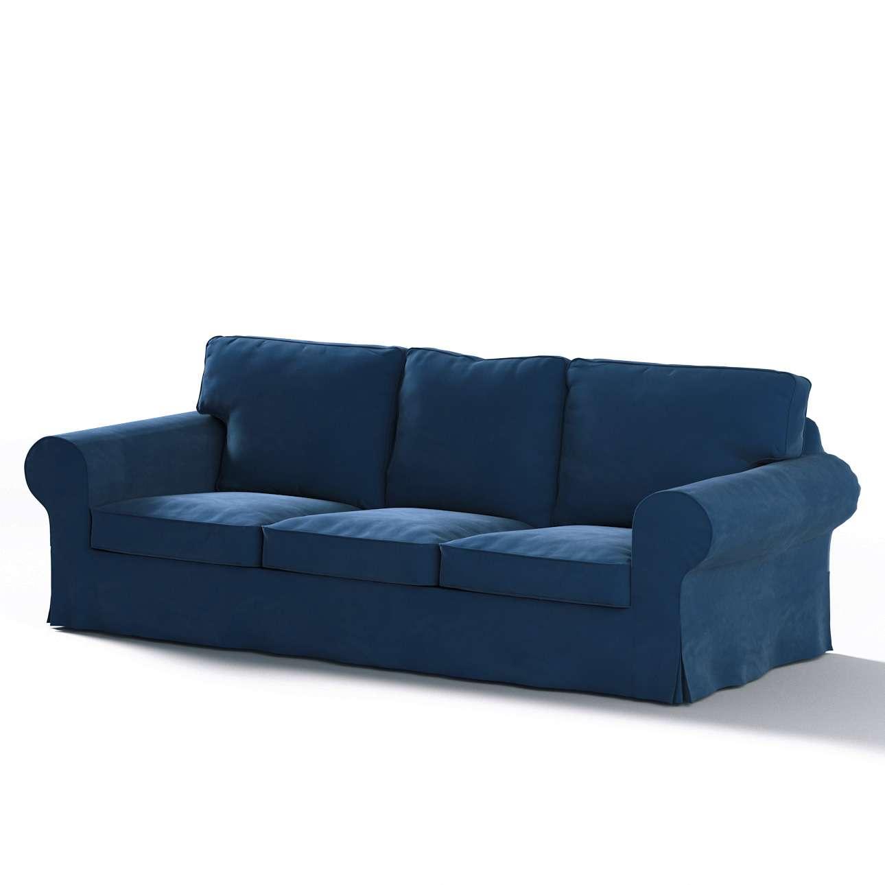 Pokrowiec na sofę Ektorp 3-osobową, rozkładaną w kolekcji Velvet, tkanina: 704-29