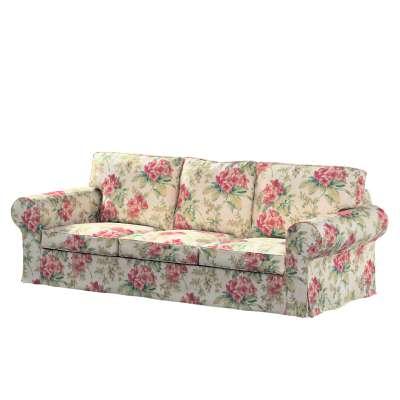 Bezug für Ektorp 3-Sitzer Schlafsofa, neues Modell (2013) 143-40 rosa-grün-ecru Kollektion Londres