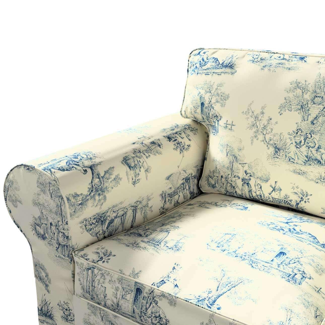 Pokrowiec na sofę Ektorp 3-osobową, rozkładaną w kolekcji Avinon, tkanina: 132-66