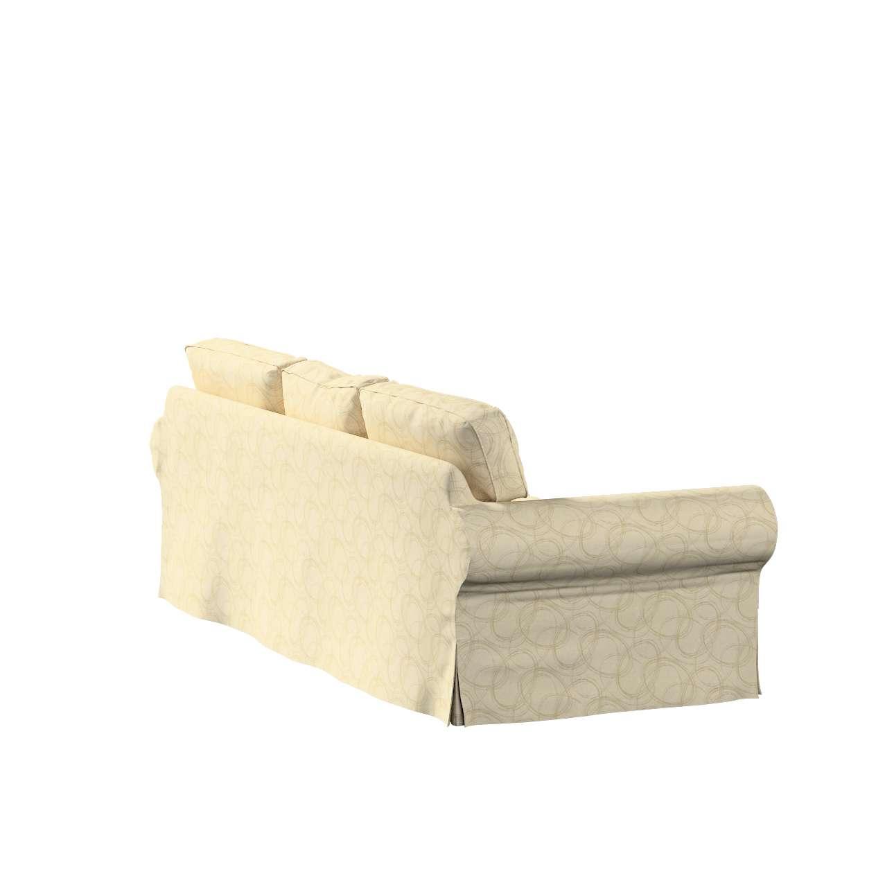 Pokrowiec na sofę Ektorp 3-osobową, rozkładaną w kolekcji Living, tkanina: 161-81