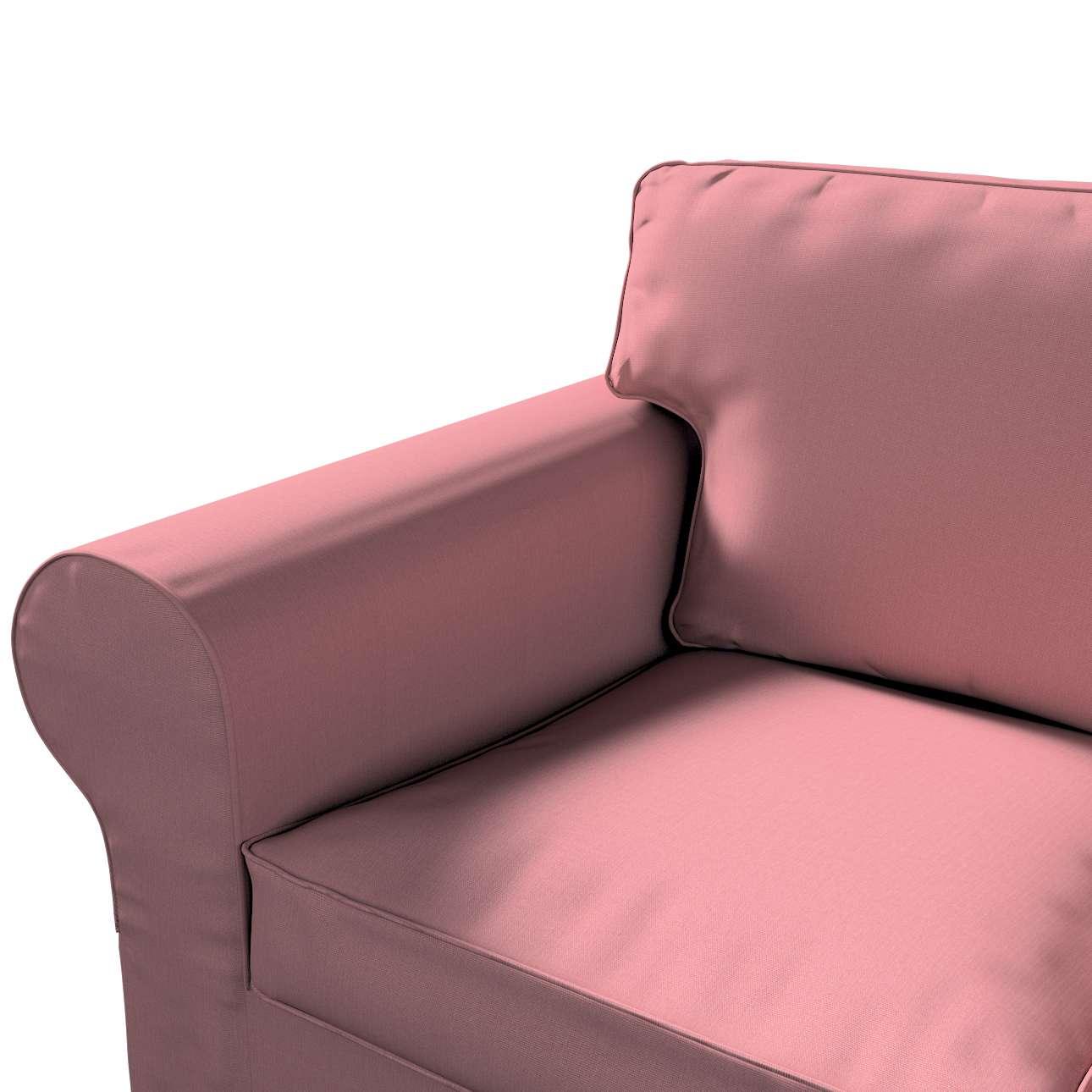 Pokrowiec na sofę Ektorp 3-osobową, rozkładaną w kolekcji Cotton Panama, tkanina: 702-43