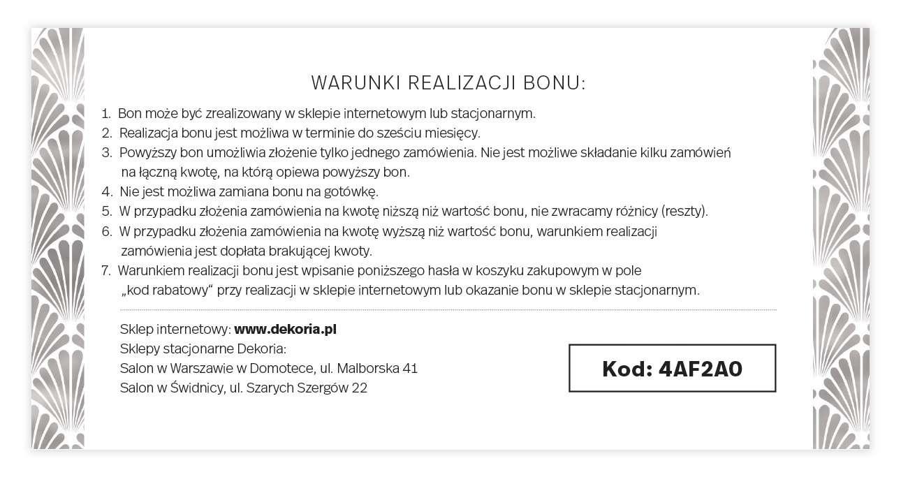 Bon prezentowy 50 zł bon
