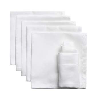 komplet 6 szt. serwetek milano białe 42x42cm