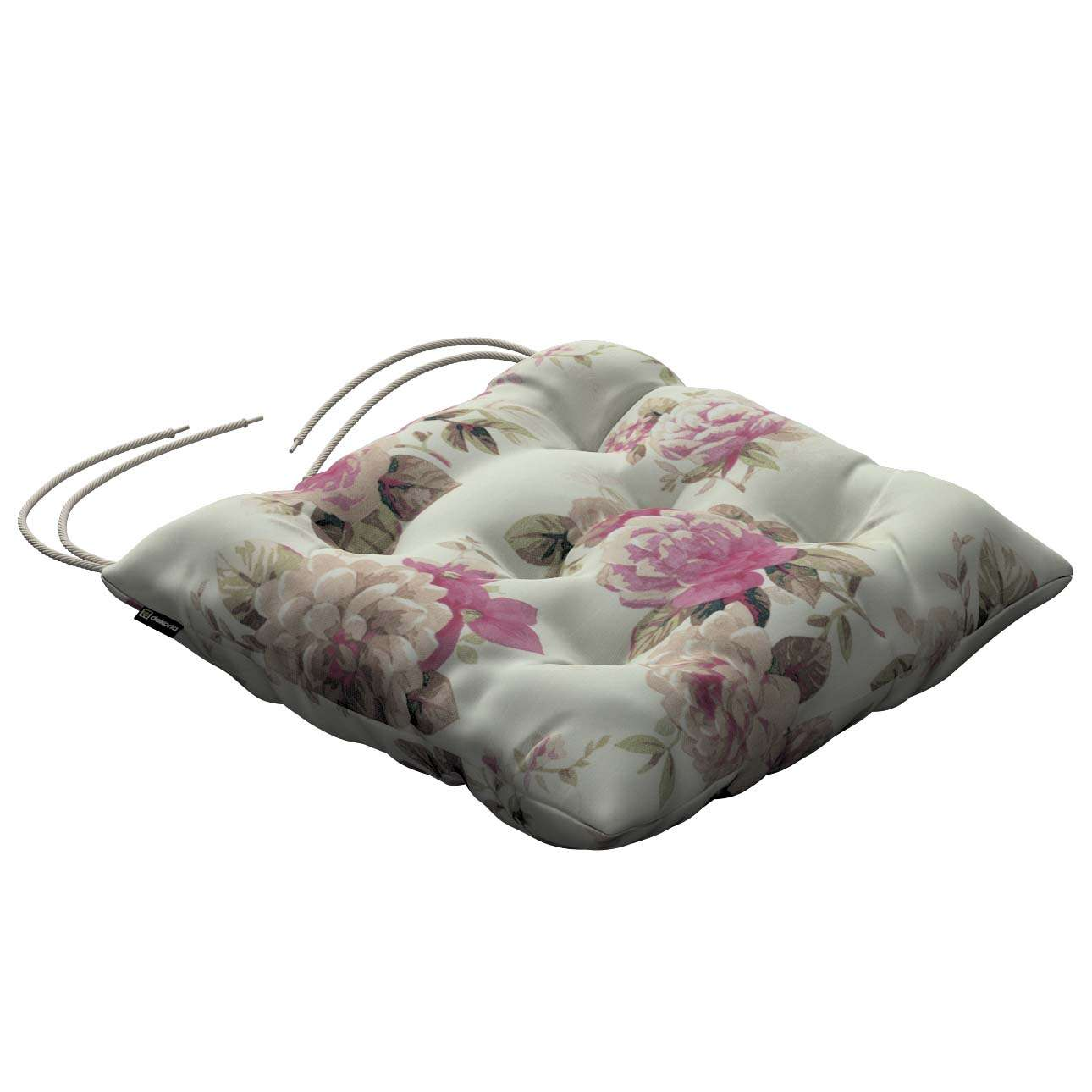 Jacek seat pad with ties 40 x 40 x 8 cm (16 x 16 x 3 inch) in collection Mirella, fabric: 141-07