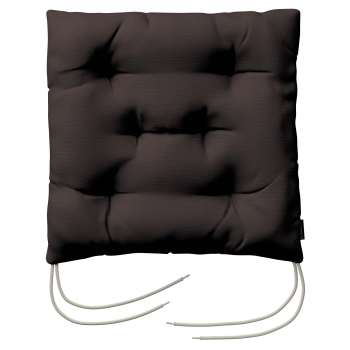 Jacek seat pad with ties 40 x 40 x 8 cm (16 x 16 x 3 inch) in collection Cotton Panama, fabric: 702-03