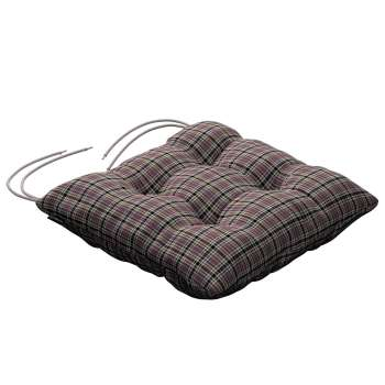Jacek seat pad with ties 40 x 40 x 8 cm (16 x 16 x 3 inch) in collection Bristol, fabric: 126-32