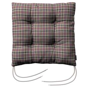 Jack seat pad with ties 40 × 40 × 8 cm (16 × 16 × 3 inch) in collection Bristol, fabric: 126-32