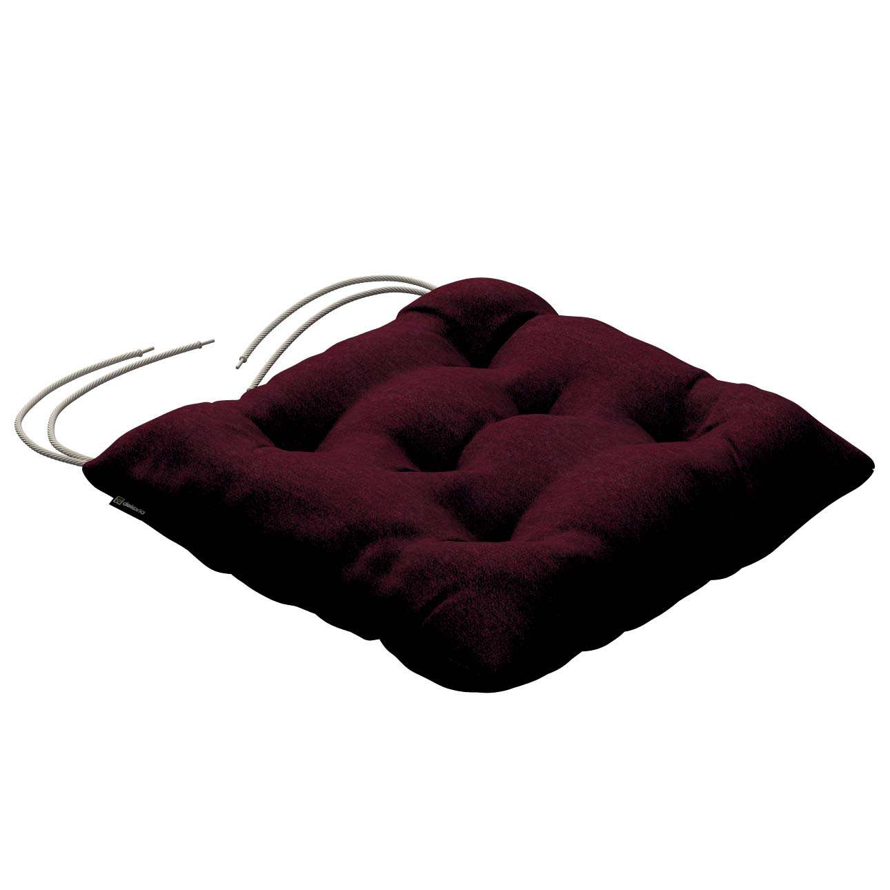 Jacek seat pad with ties 40 x 40 x 8 cm (16 x 16 x 3 inch) in collection Chenille, fabric: 702-19