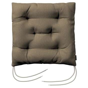 Jacek seat pad with ties 40 × 40 × 8 cm (16 × 16 × 3 inch) in collection Chenille, fabric: 702-21