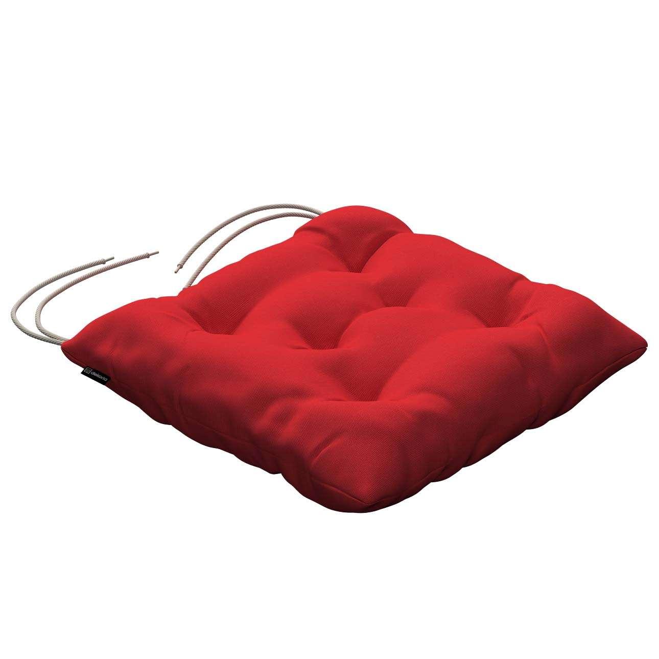 Siedzisko Jacek na krzesło 40x40x8cm w kolekcji Loneta, tkanina: 133-43