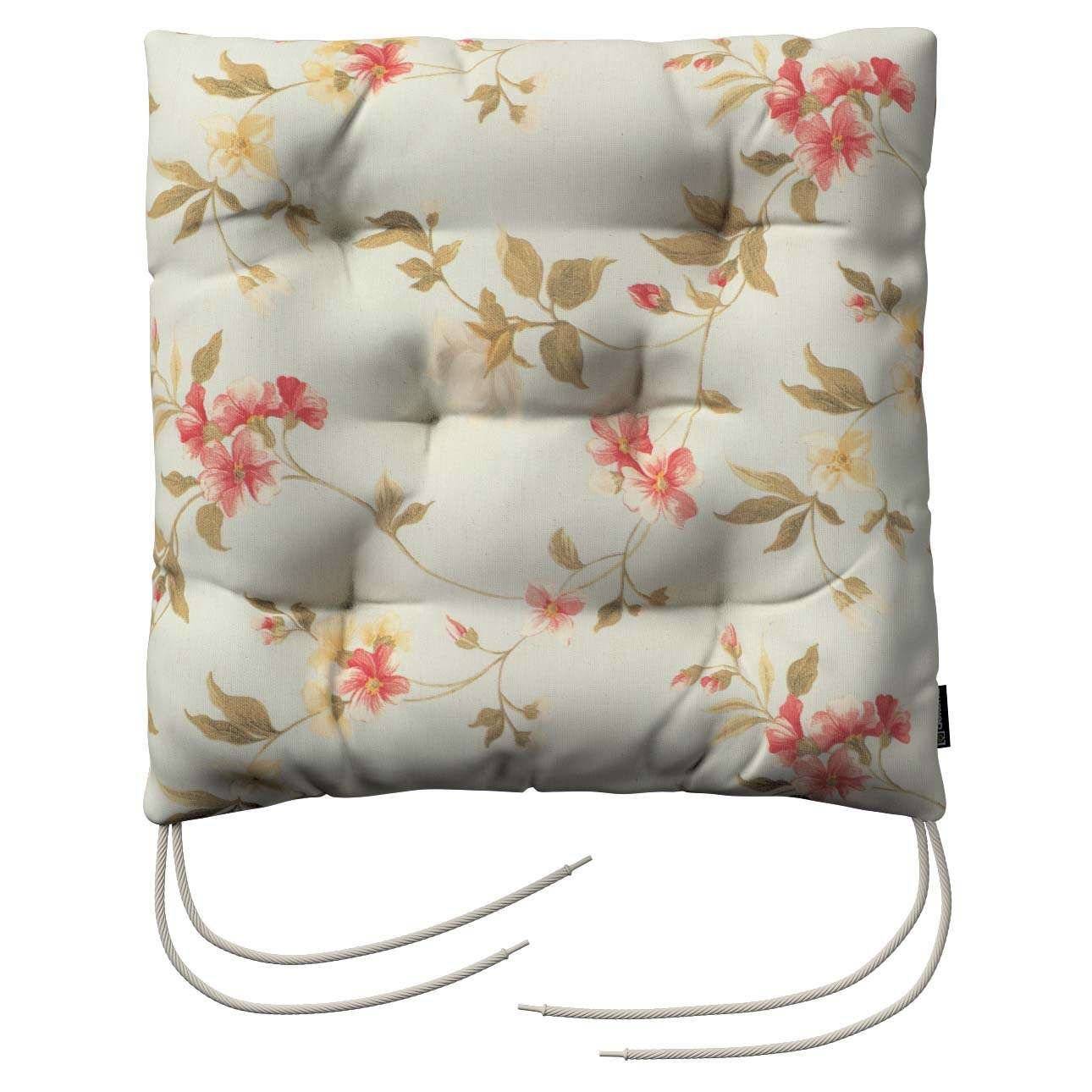 Jacek seat pad with ties 40 x 40 x 8 cm (16 x 16 x 3 inch) in collection Londres, fabric: 124-65