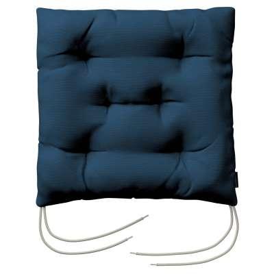 Jack seat pad with ties 702-30 dark blue Collection Panama Cotton