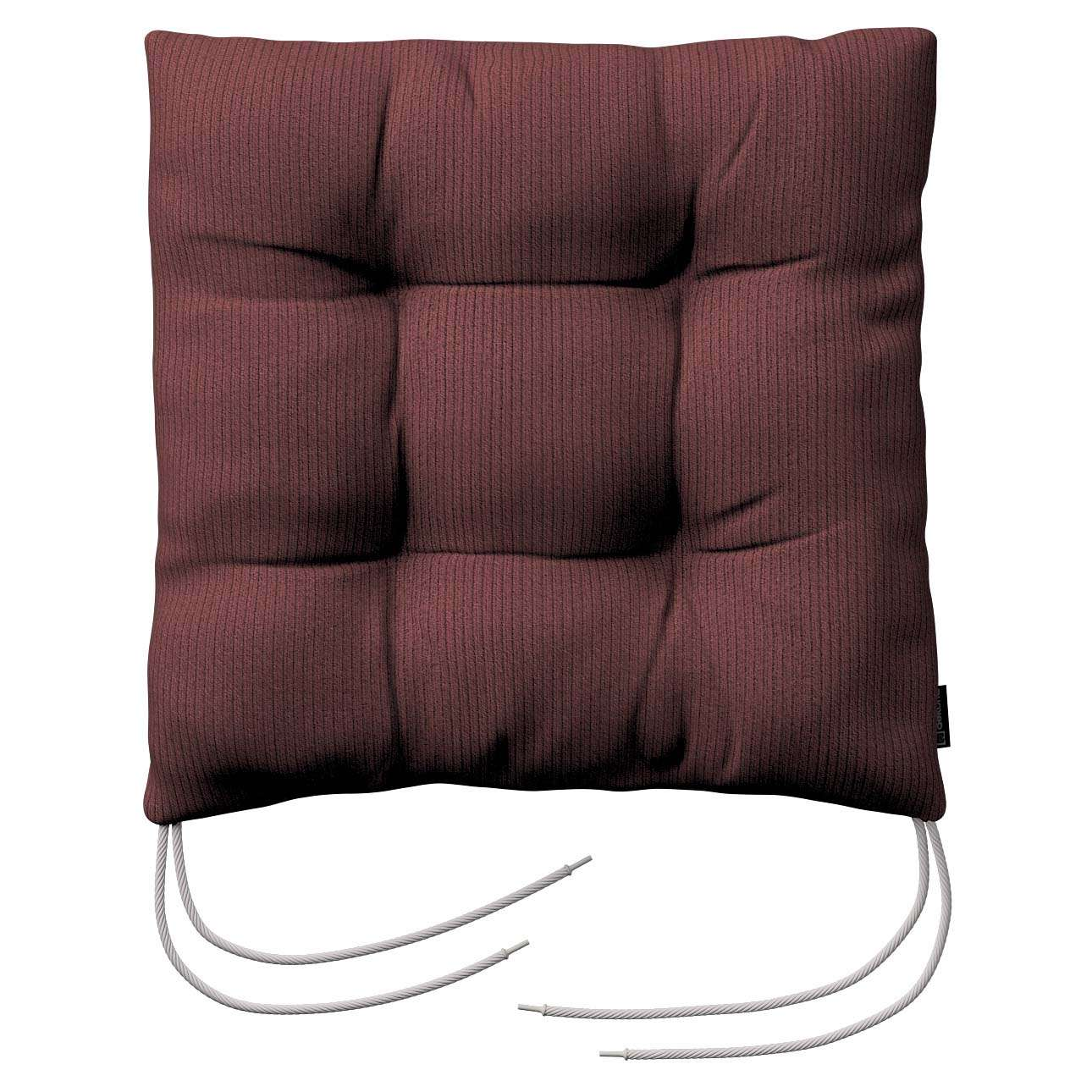 Jacek seat pad with ties 40 x 40 x 8 cm (16 x 16 x 3 inch) in collection Living, fabric: 103-56