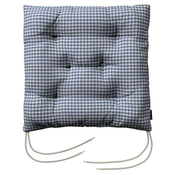 Jack seat pad with ties in collection Quadro, fabric: 136-00