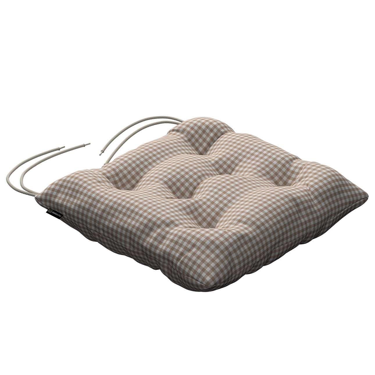 Siedzisko Jacek na krzesło 38x38x8cm w kolekcji Quadro, tkanina: 136-05