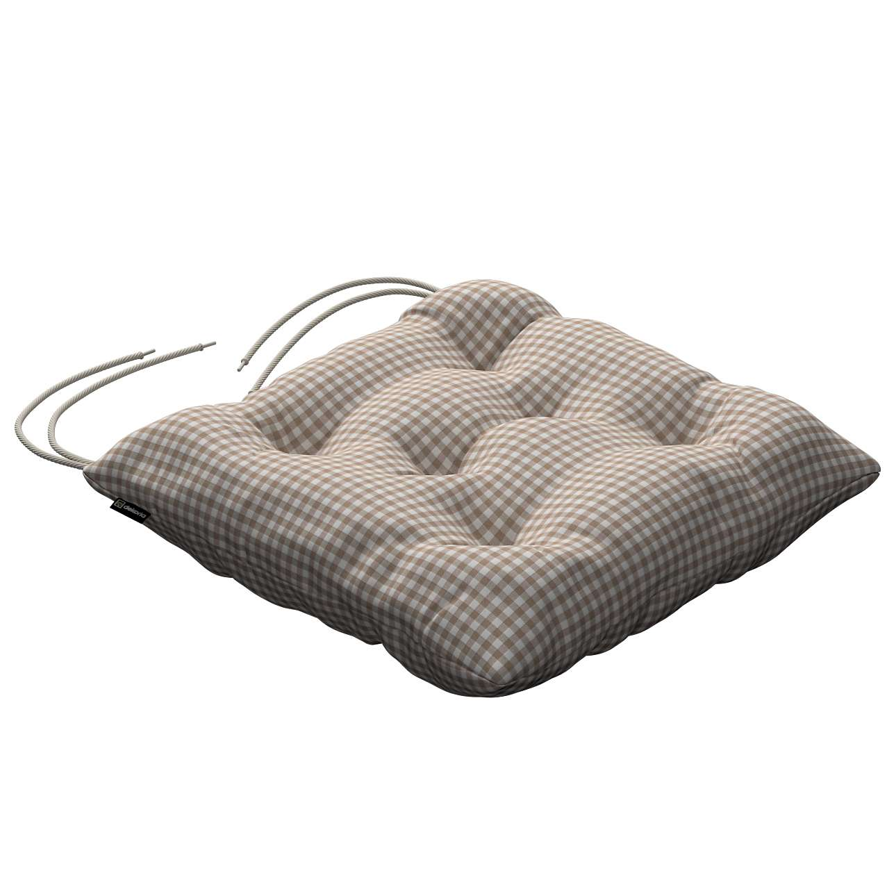 Jack seat pad with ties in collection Quadro, fabric: 136-05