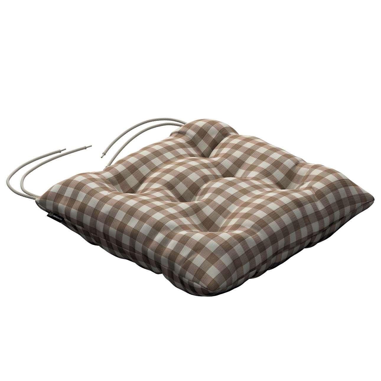 Siedzisko Jacek na krzesło 40x40x8cm w kolekcji Quadro, tkanina: 136-06