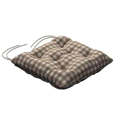 Siedzisko Jacek na krzesło 136-06 beżowo biała kratka (1,5x1,5cm) Kolekcja Quadro