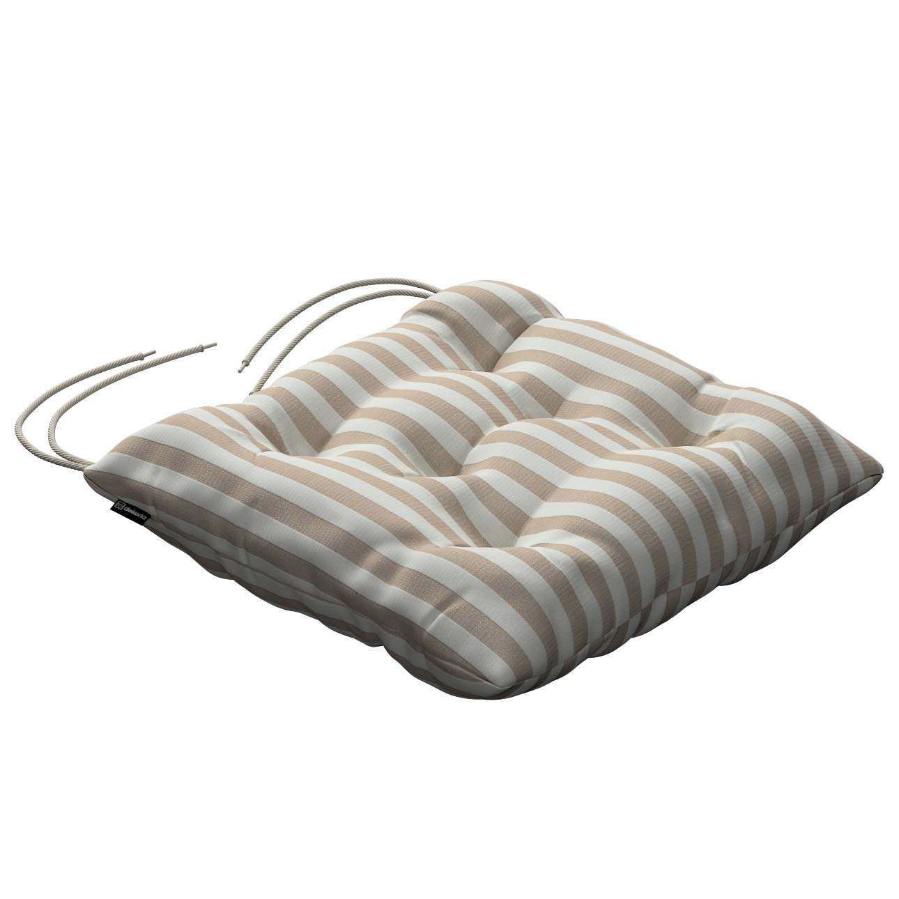 Jack seat pad with ties in collection Quadro, fabric: 136-07