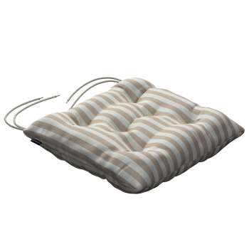 Jacek seat pad with ties 40 × 40 × 8 cm (16 × 16 × 3 inch) in collection Quadro, fabric: 136-07