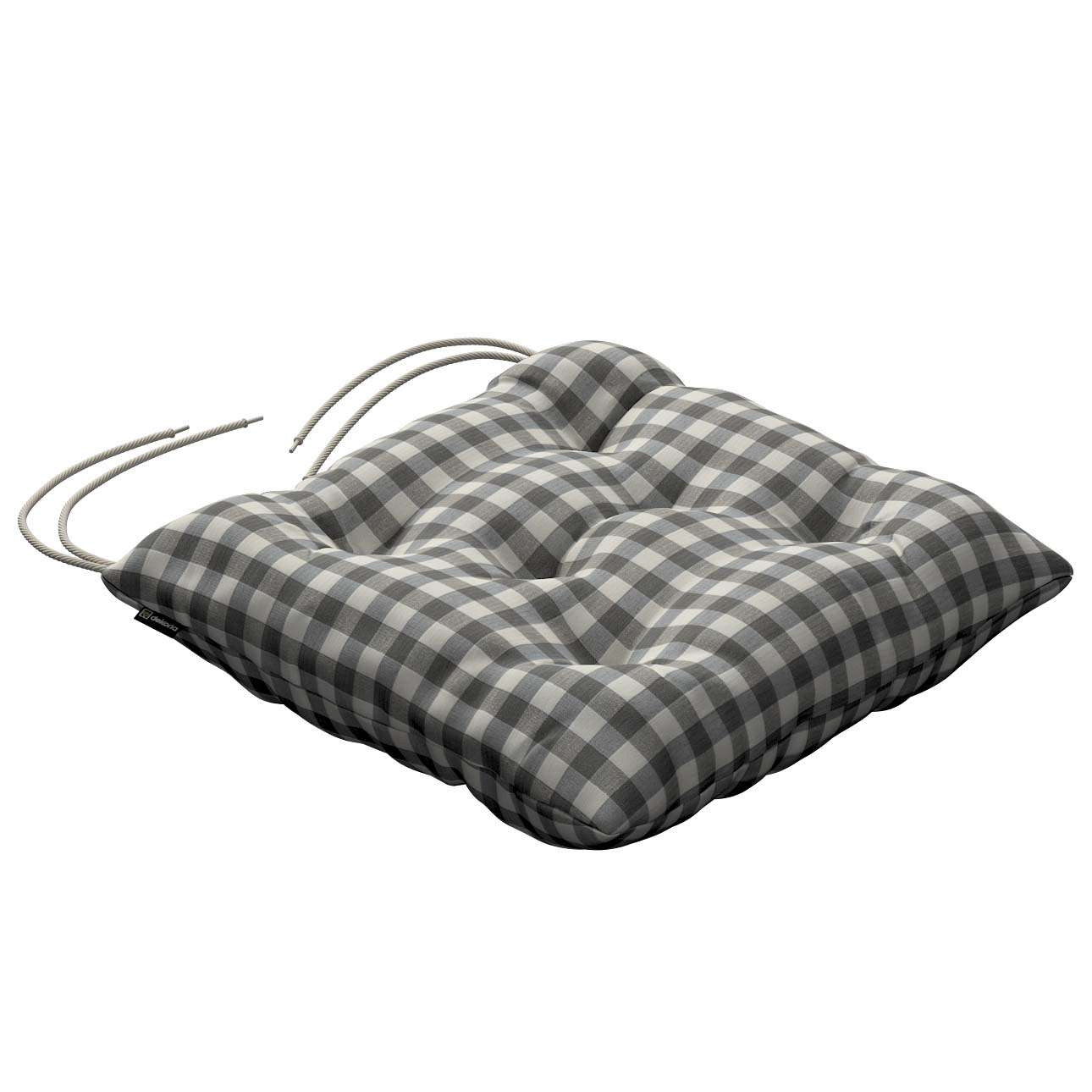 Jack seat pad with ties 40 × 40 × 8 cm (16 × 16 × 3 inch) in collection Quadro, fabric: 136-11