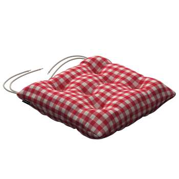 Jack seat pad with ties in collection Quadro, fabric: 136-16