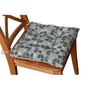 Jacek seat pad with ties 40 x 40 x 8 cm (16 x 16 x 3 inch) in collection SALE, fabric: 138-20