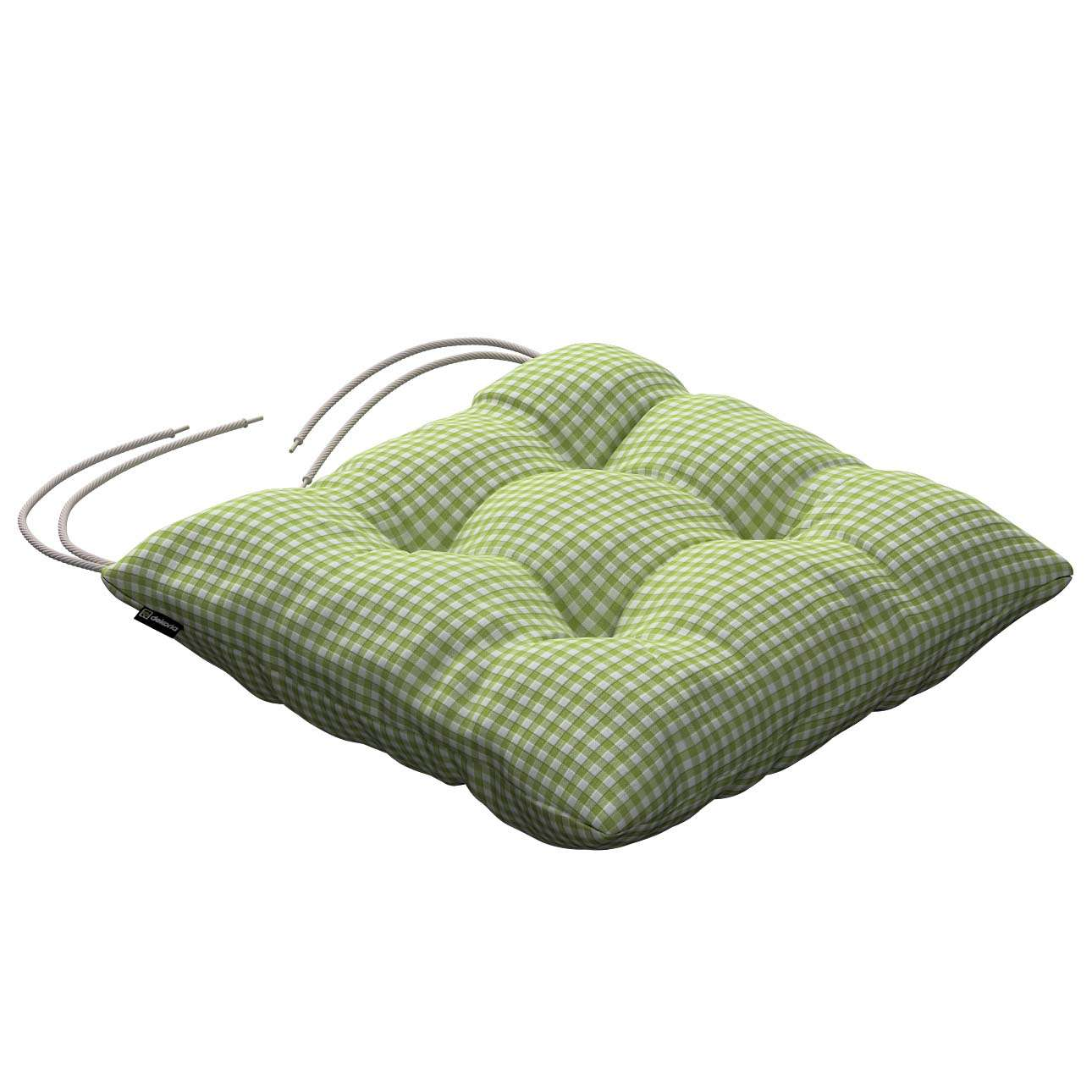 Jacek seat pad with ties 40 x 40 x 8 cm (16 x 16 x 3 inch) in collection Quadro, fabric: 136-33