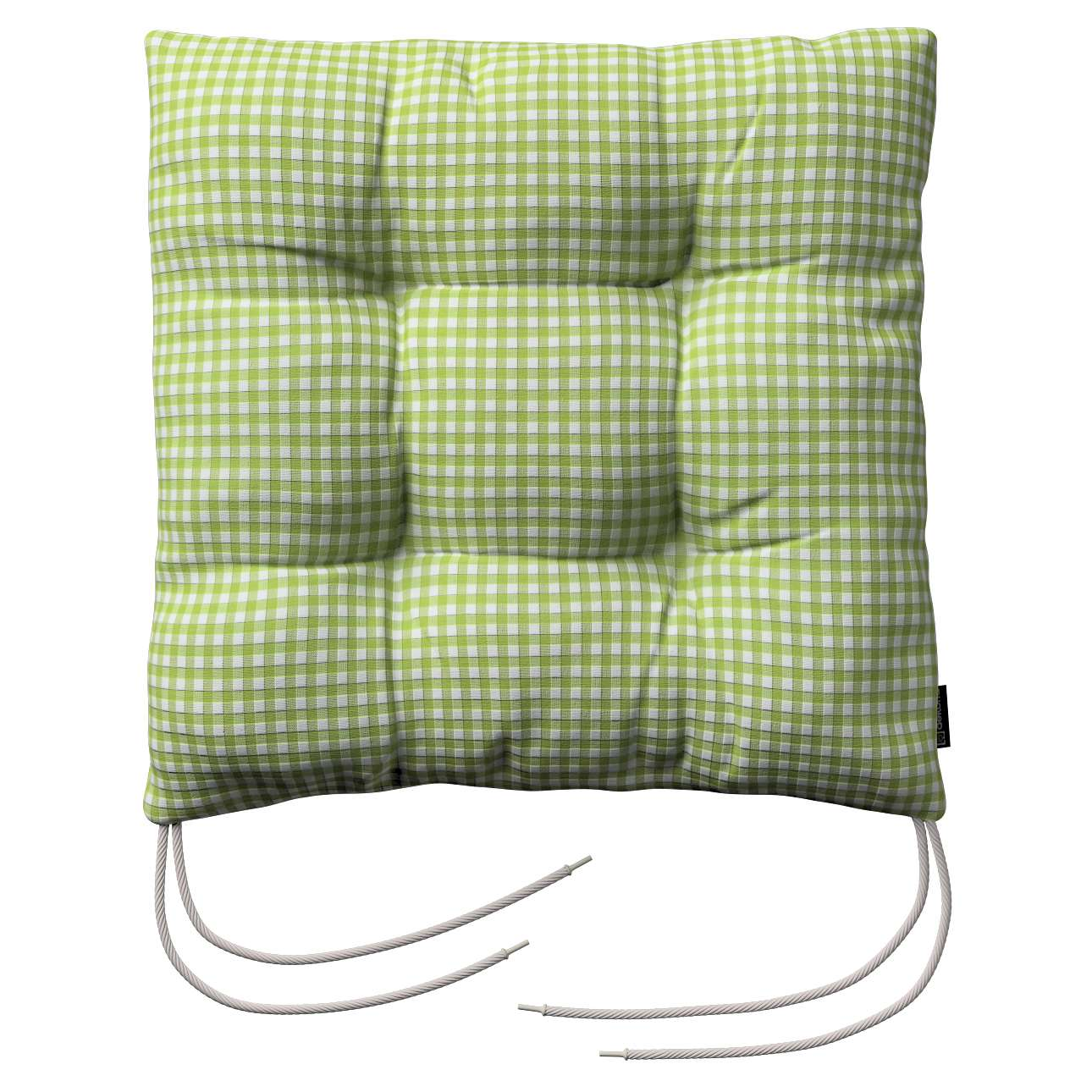 Jack seat pad with ties in collection Quadro, fabric: 136-33