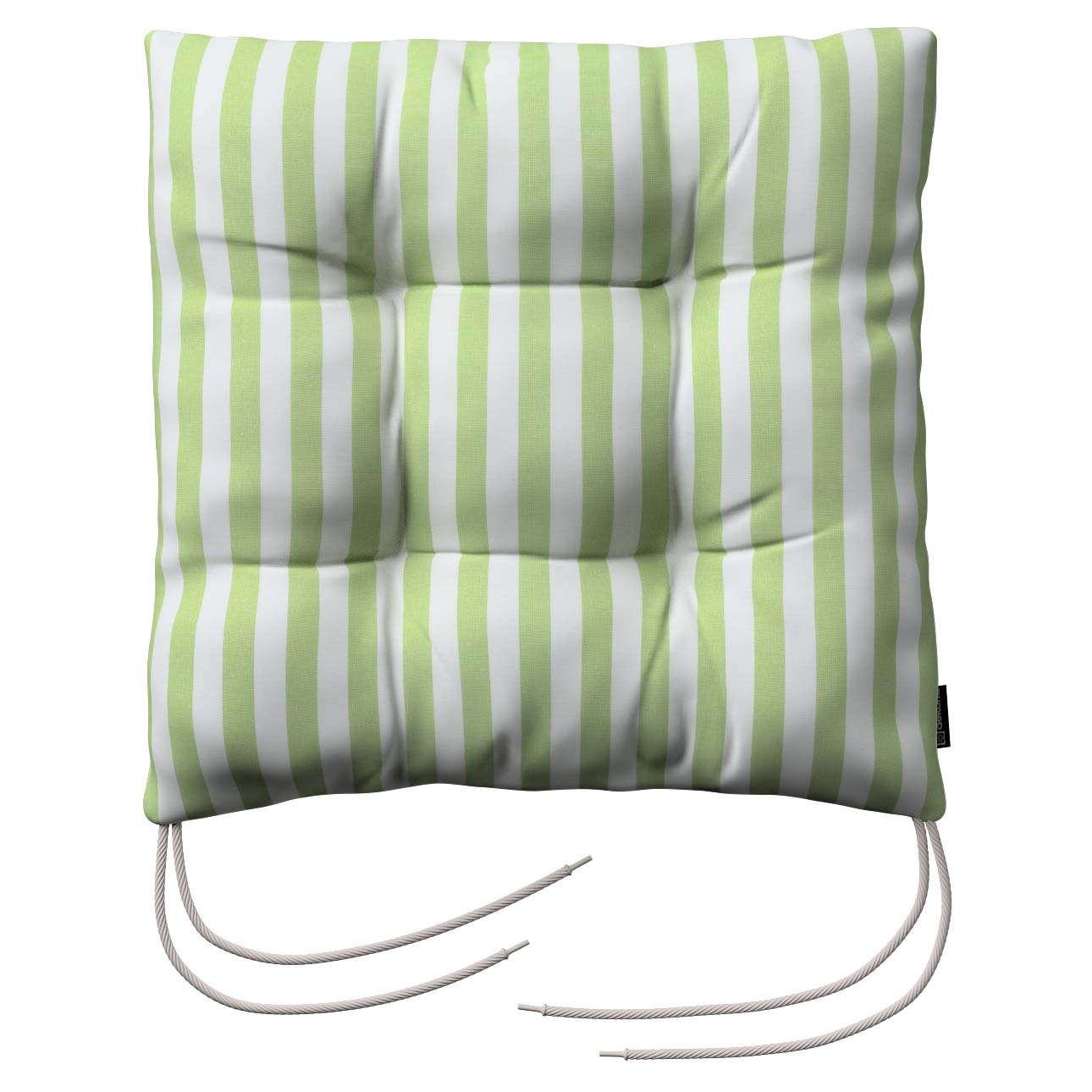 Jack seat pad with ties in collection Quadro, fabric: 136-35