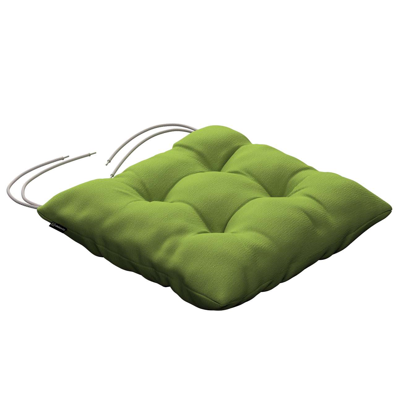 Jacek seat pad with ties 40 x 40 x 8 cm (16 x 16 x 3 inch) in collection Quadro, fabric: 136-37