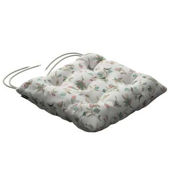 Jacek seat pad with ties 40 × 40 × 8 cm (16 × 16 × 3 inch) in collection Londres, fabric: 122-02